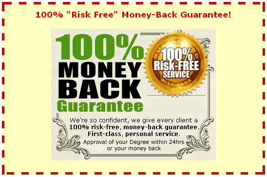 money back guarantee Instant Degrees