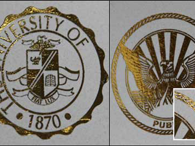 College seals, University Crests